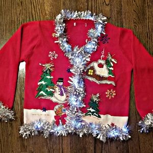 Sweaters - North Pole LIGHT UP Ugly/Tacky Christmas Sweater